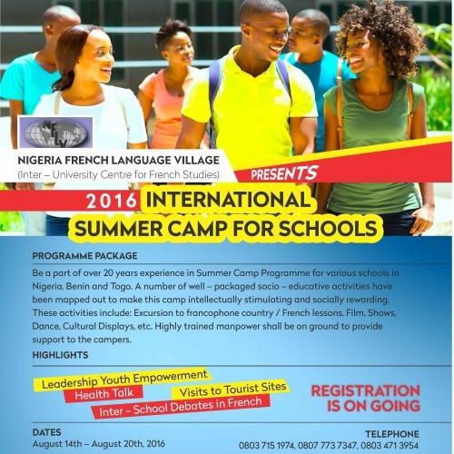 INTERNATIONAL SUMMER CAMP FOR SCHOOLS